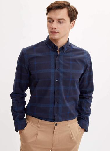 DeFacto Uzun Kollu Gömlek Lacivert